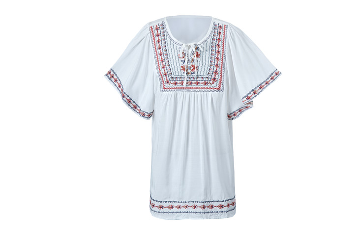 Embroidery Tunic Top(10426)