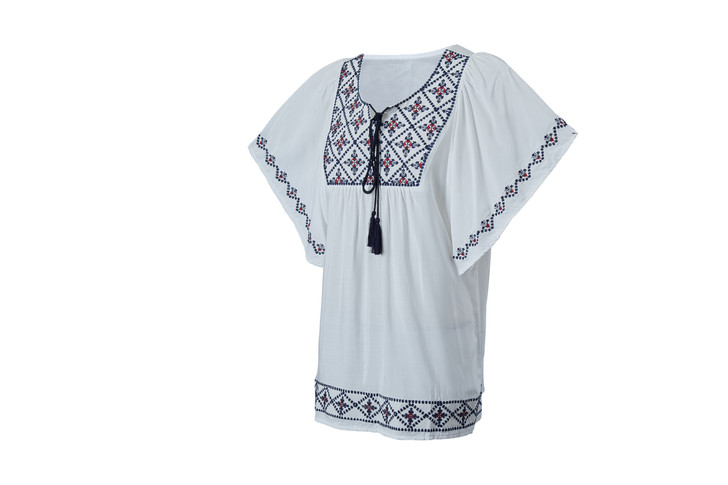 Embroidery Tunic Top(10428)