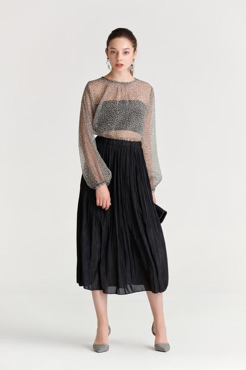 Creased Midi Skirt(10471)
