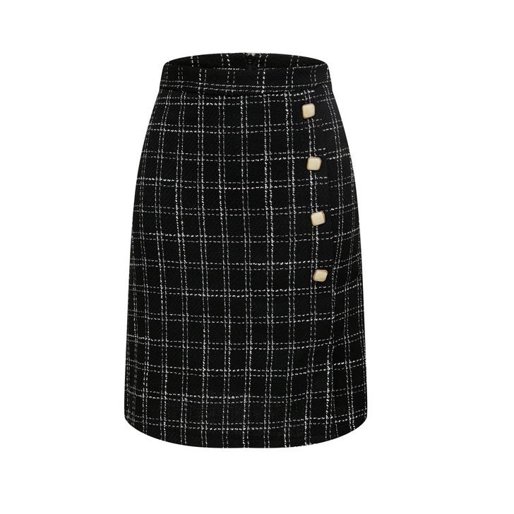 Check Wrap Skirt(10505)