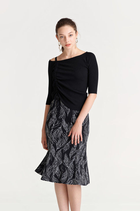 Shirring Knit Top(10518)