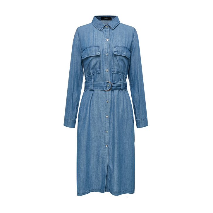 Denim Shirt Dress (10562)