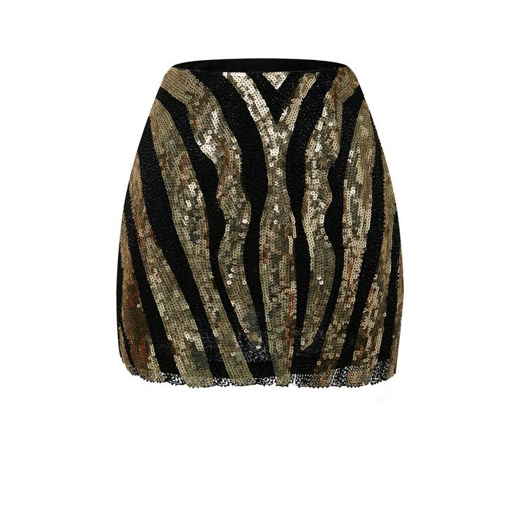 Sequin Mini Skirt (10577)