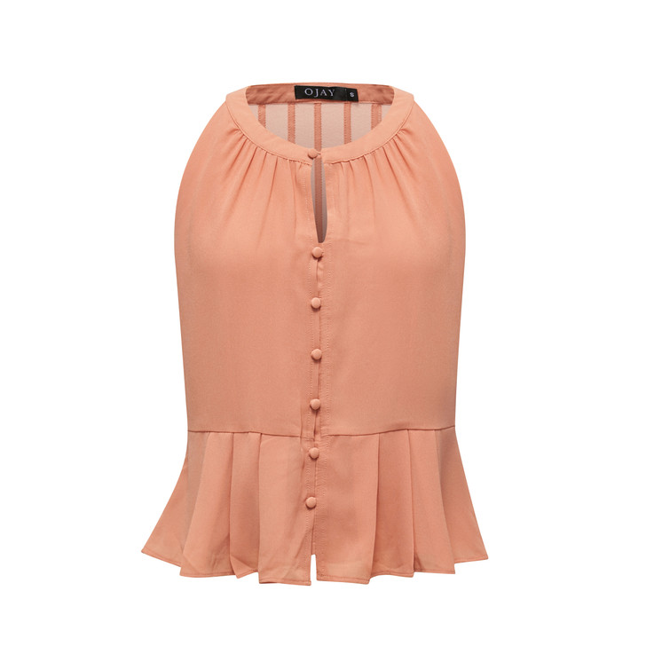Bella Button Peplum Top