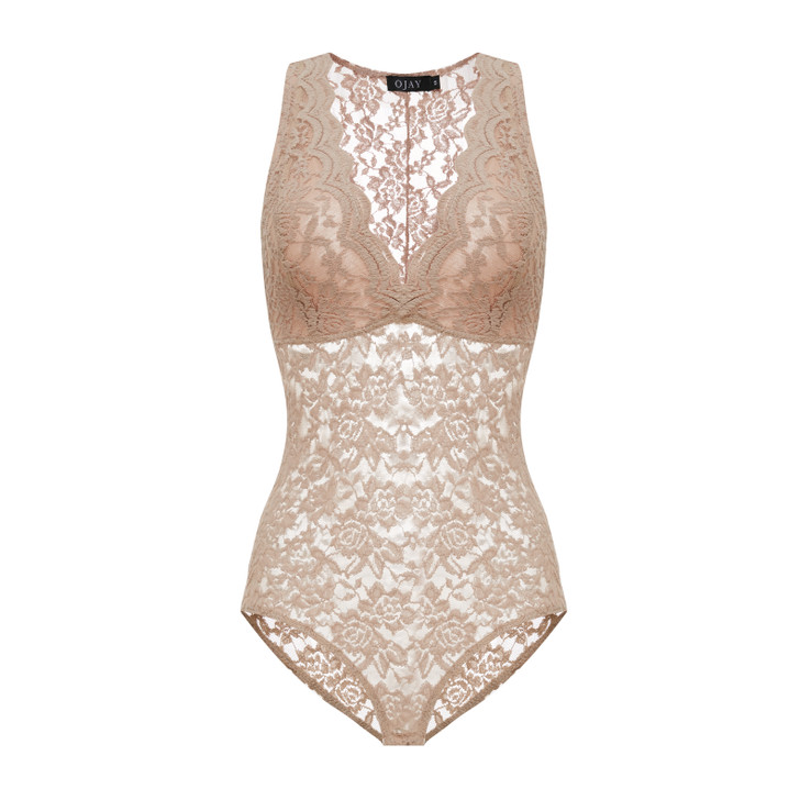 Floral Lace Sleeveless Bodysuit