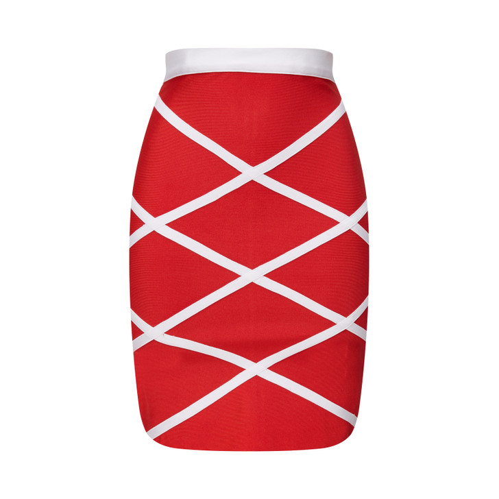 Multi Striped Bandage Skirt