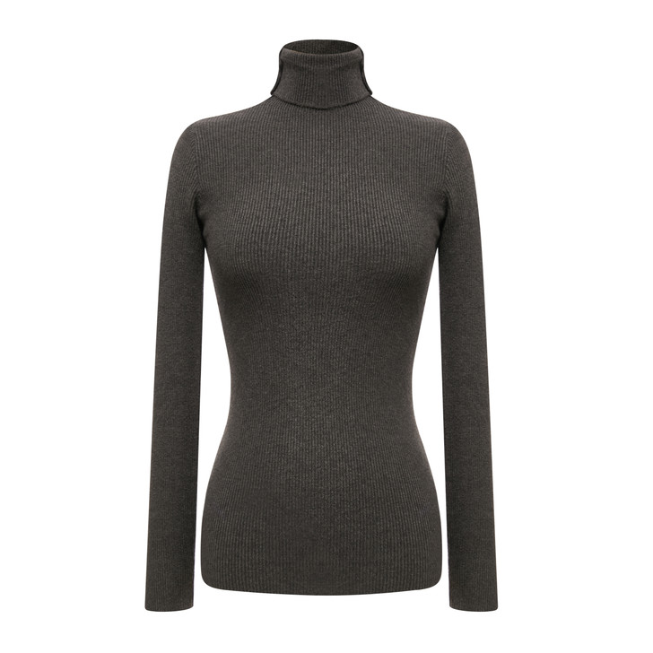 Turtle neck basic knit top
