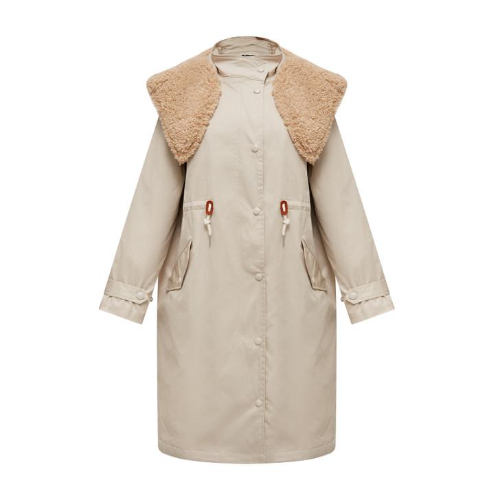 Oversized warm long coat
