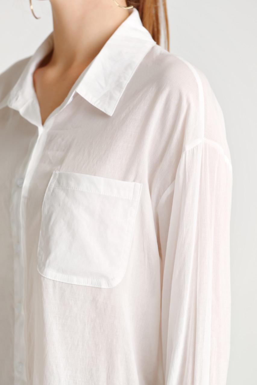 Sheer Fabric Oversize Shirt