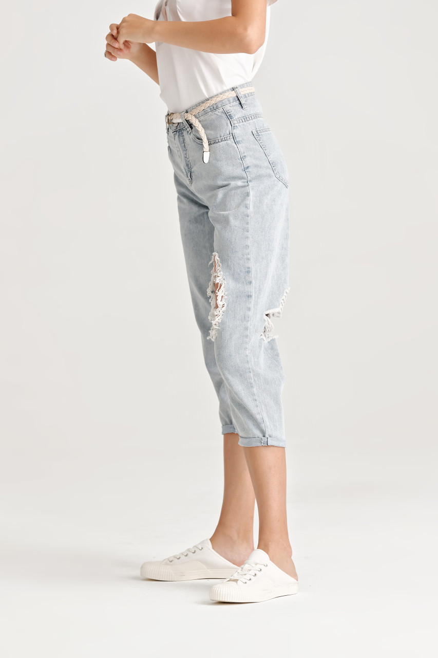 Distressed Denim Pants