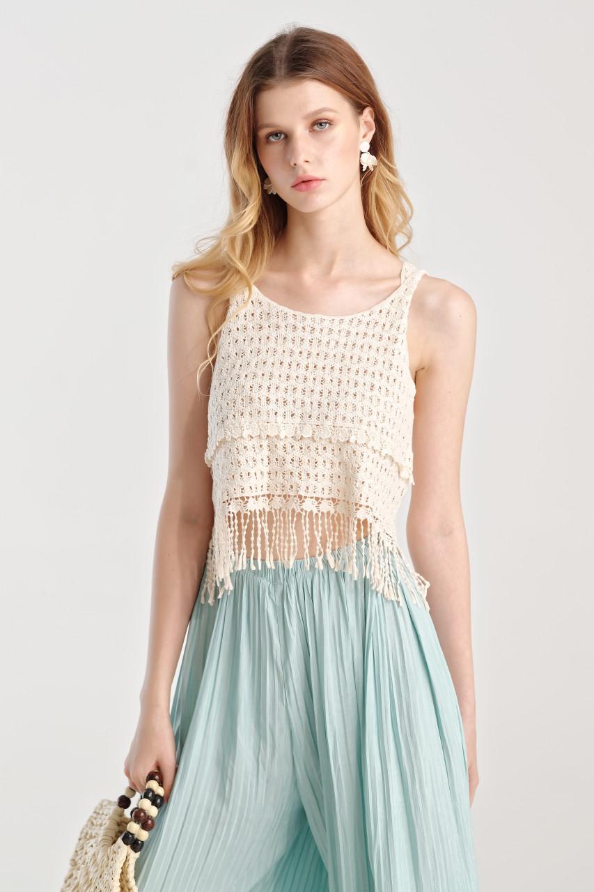 Crochet Crop Knit Top