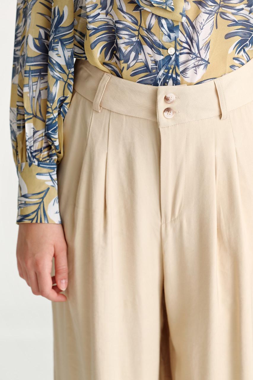 Rayon Wide Leg Pants
