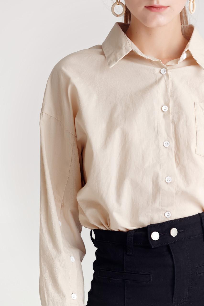 Crease Fabric Basic Shirt