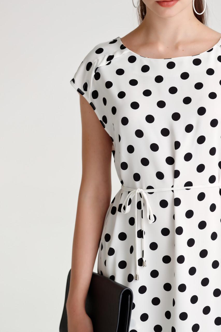 Dot Front Slit Dress