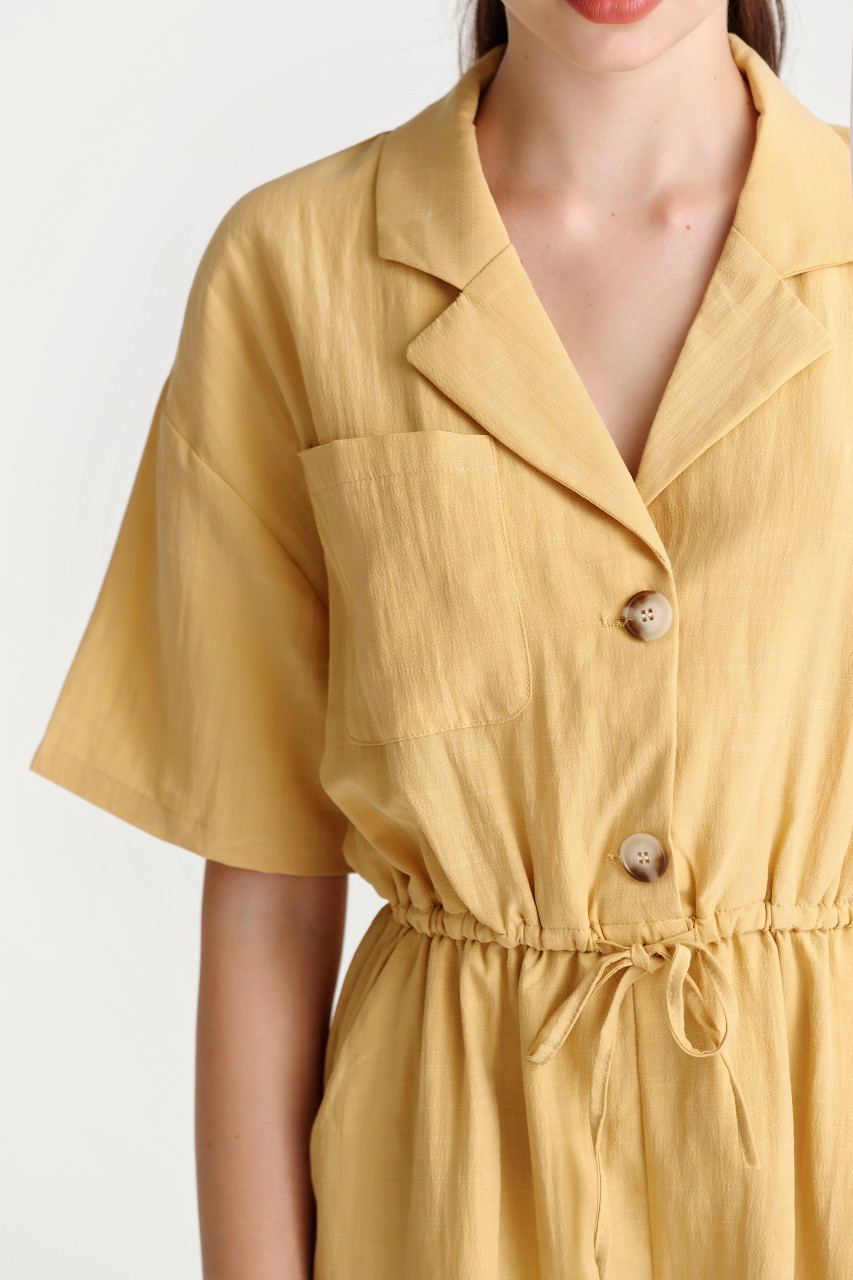 Solid Shirt Playsuit