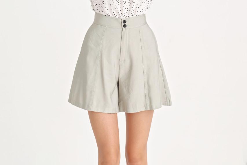 Cotton Wide Shorts