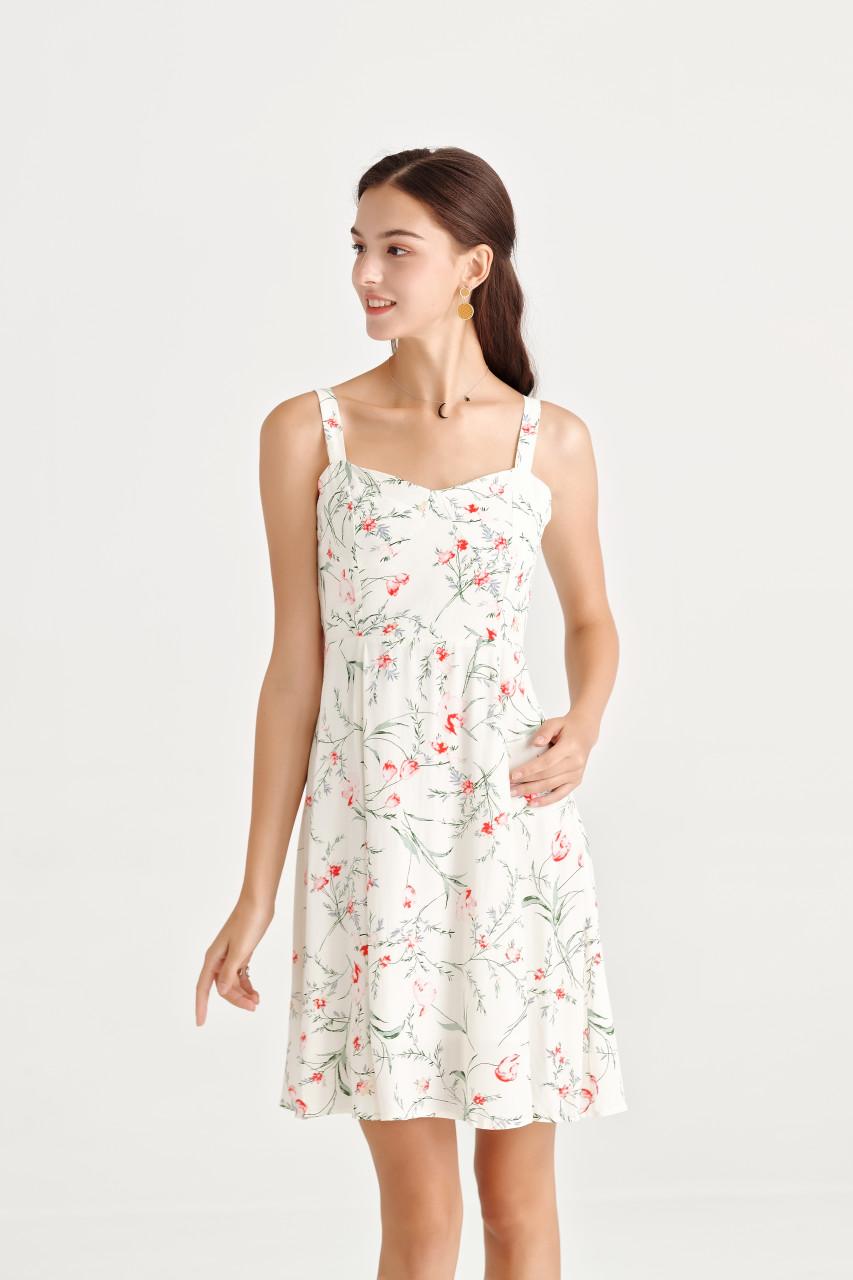 Flower Sweet Heart Mini Dress
