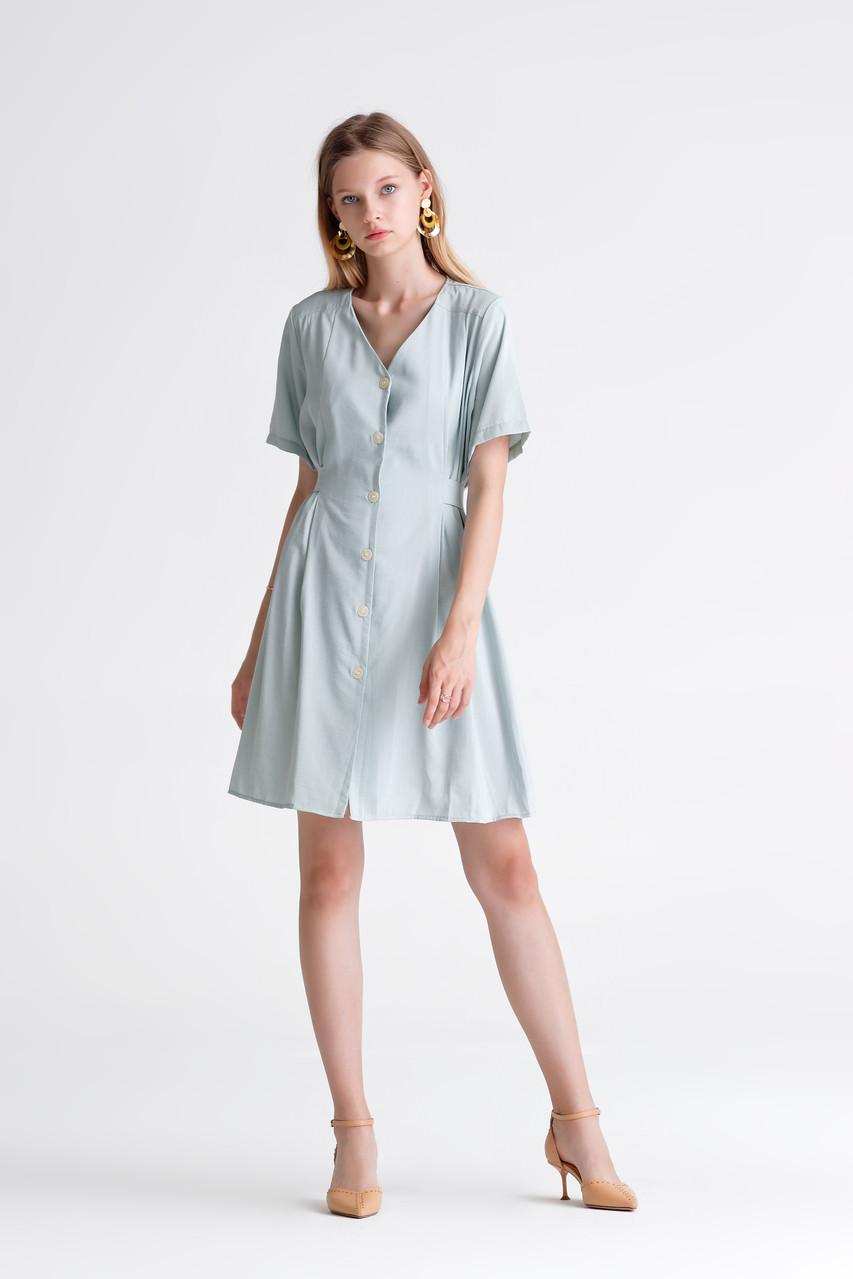 Linen like Button Dress