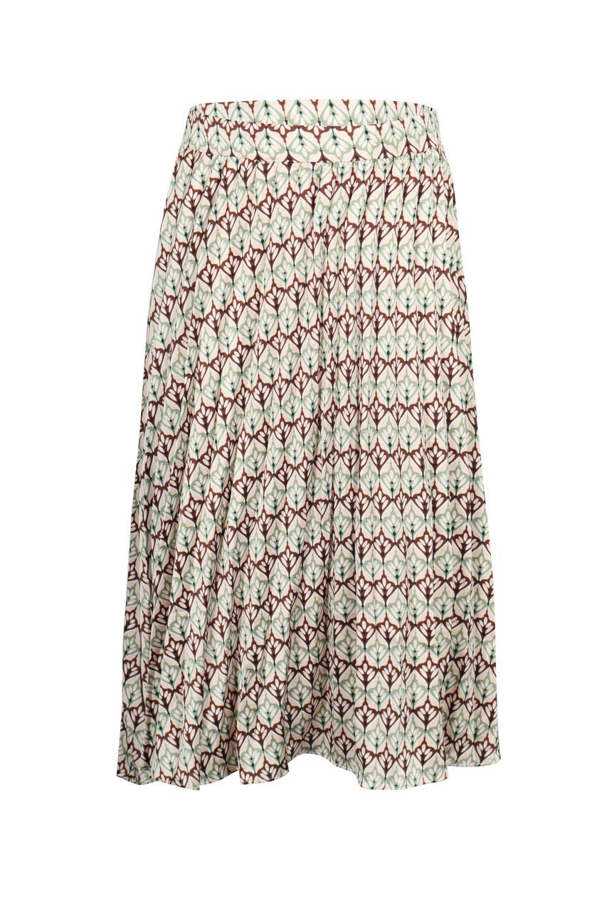 Print Pleats Skirt