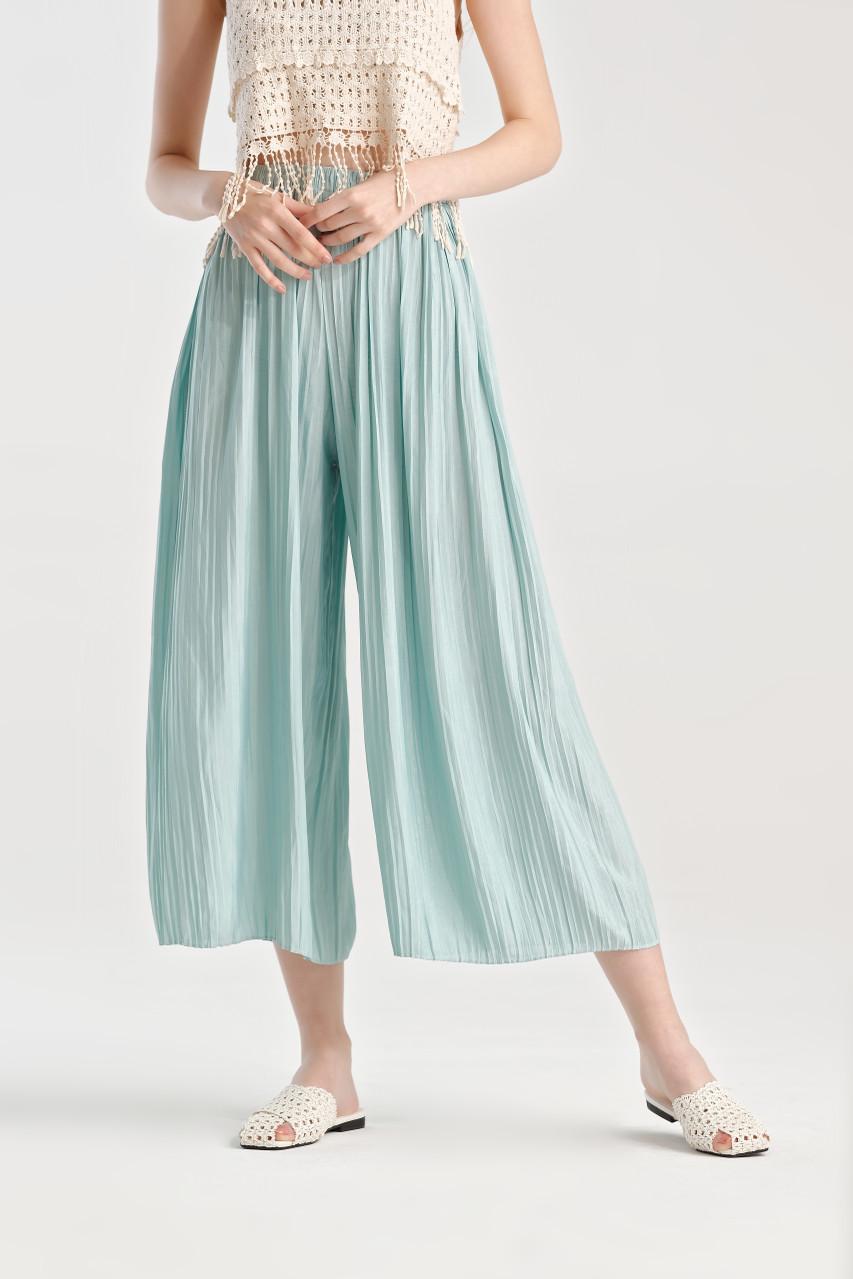 Pleats Wide Leg Pants