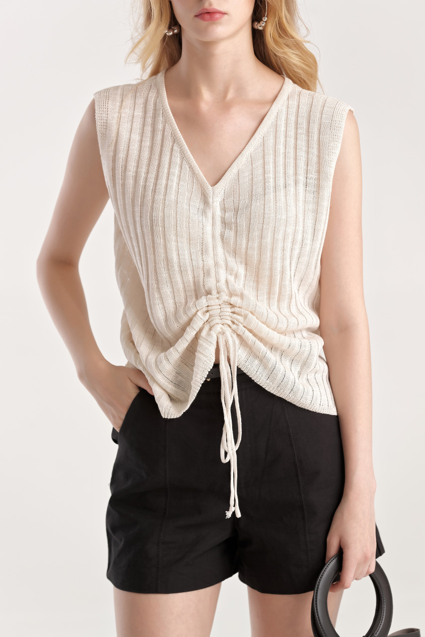 Shirring Knit Top