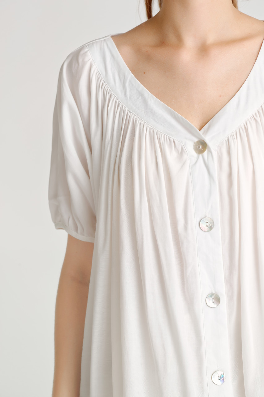 Shirring Button Shirt