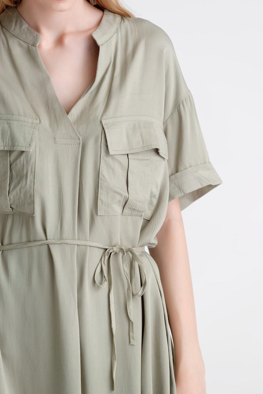 Rayon Safari Mini Dress