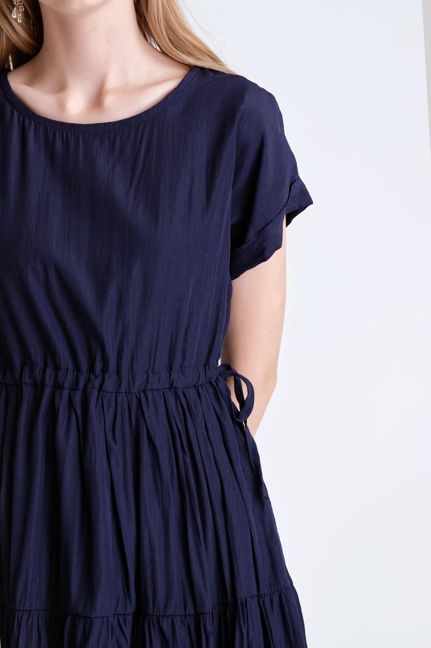 Shirring Tiered Dress