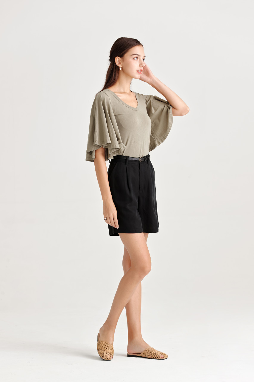 Wide Wing Sleeve Jersey Top