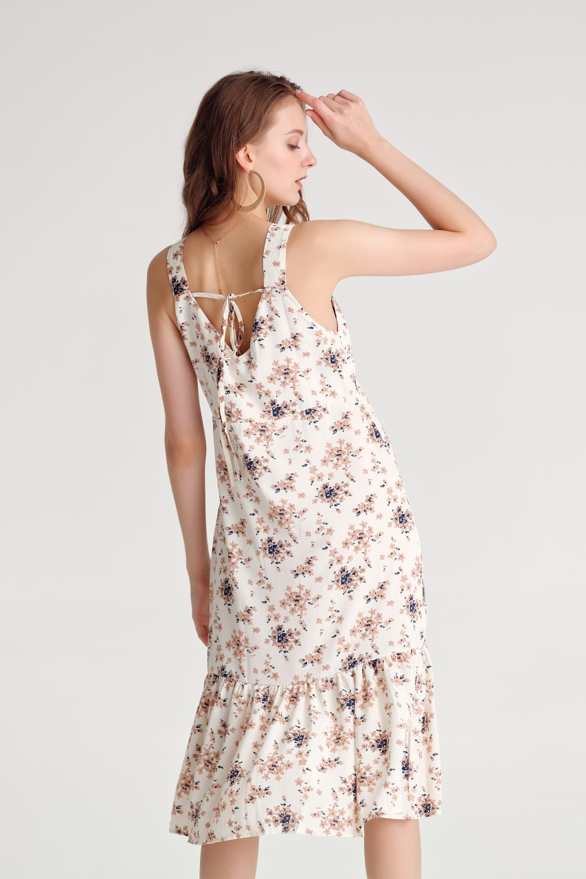 Floral Frilled Hem Dress