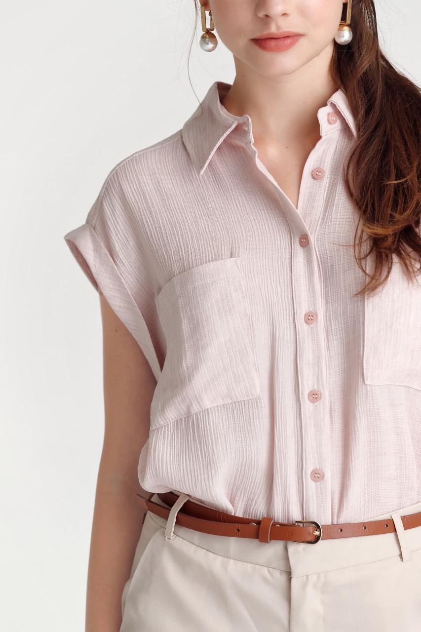Crease Dropped-Shoulder Shirt