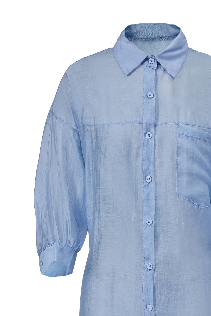 Volume-Sleeve Long Shirt