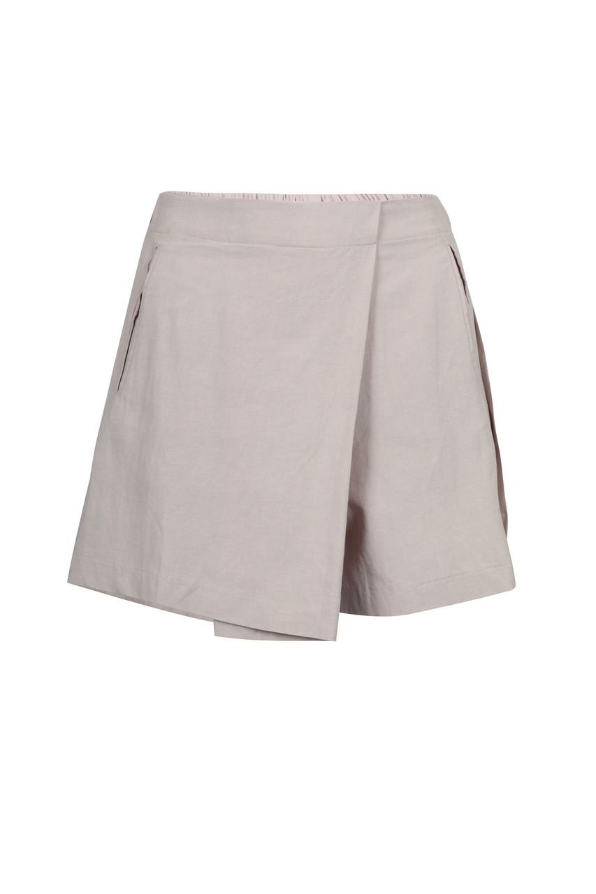 Linen like Mini Skirt