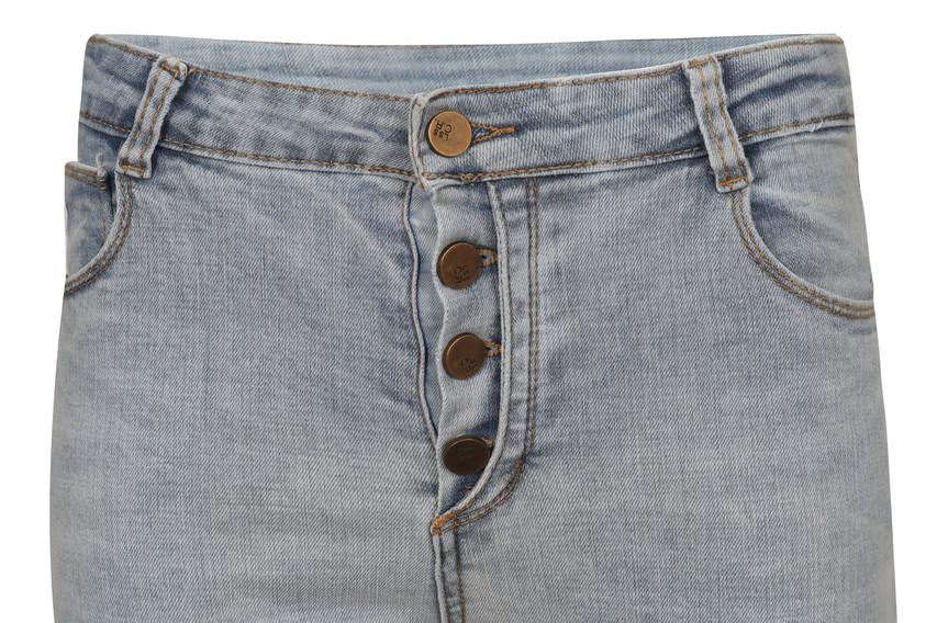 Front Button Denim Pants