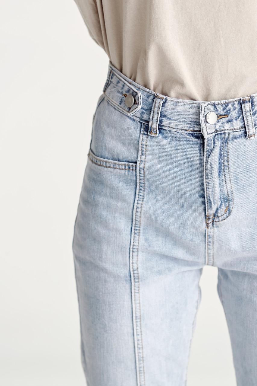 Stone Washed Denim Pants