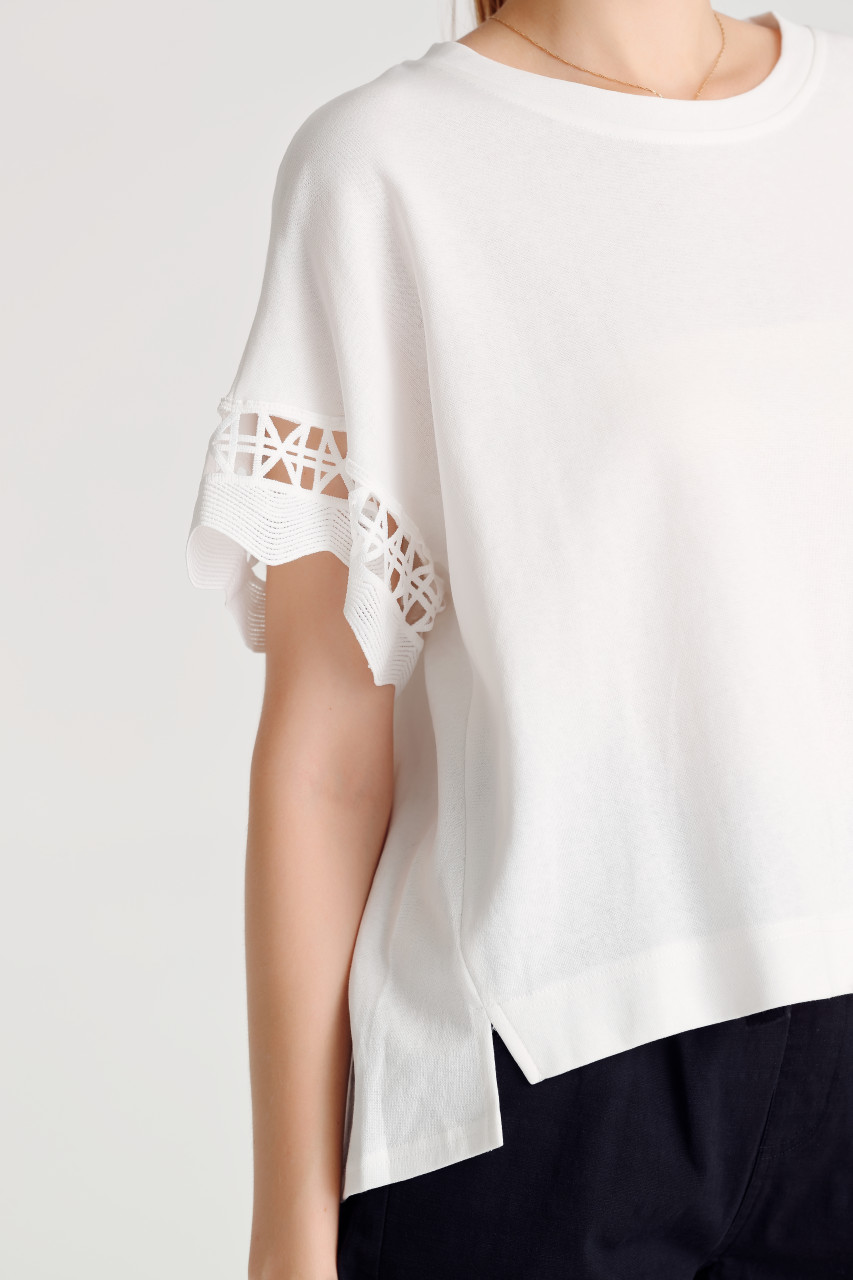 Lace-Trim Jersey Top