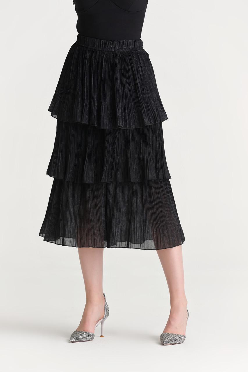 Pleats Layered Skirt