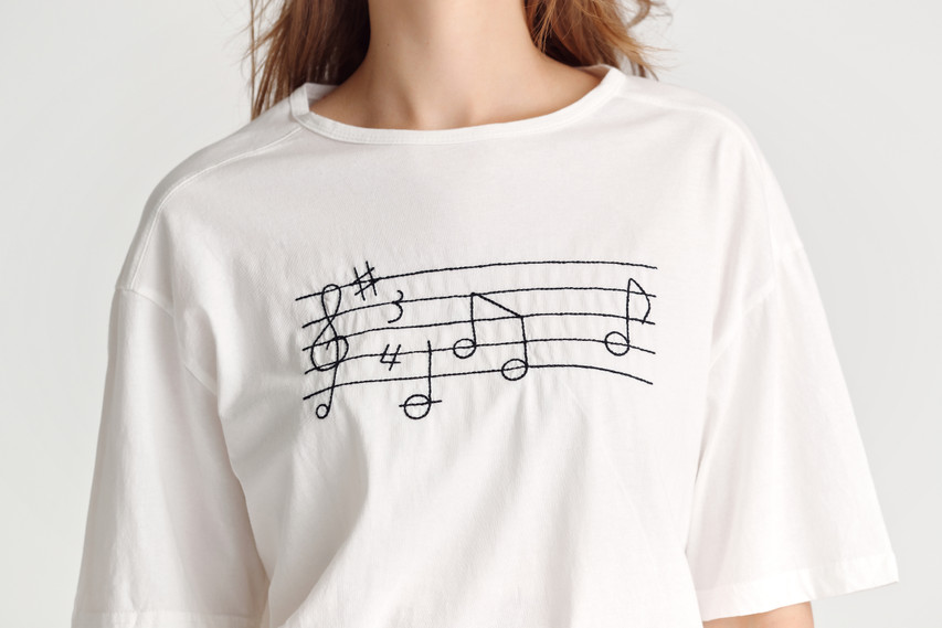 Music-Notes Jersey Top