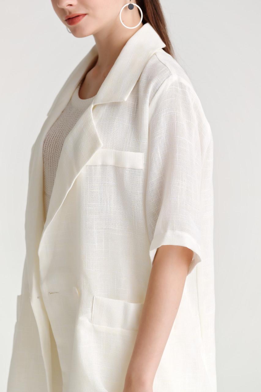 Linen like Shorts and Blazer - Set