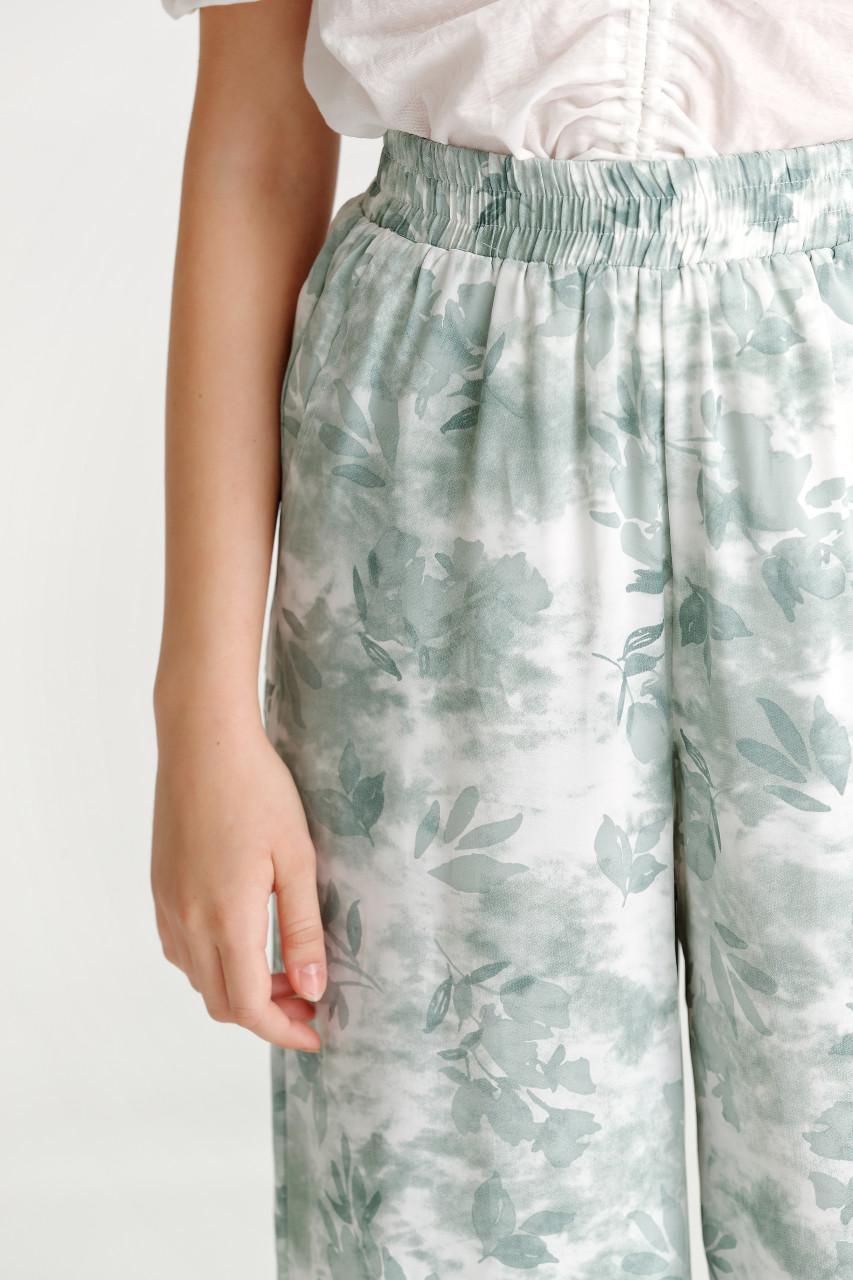 Print Wide Leg Pants