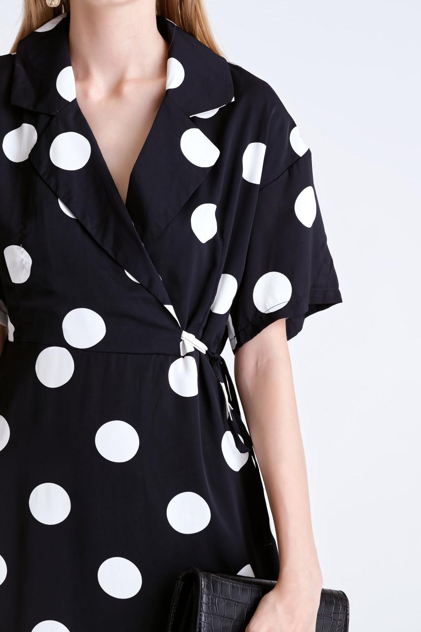 Dot Wrap Dress