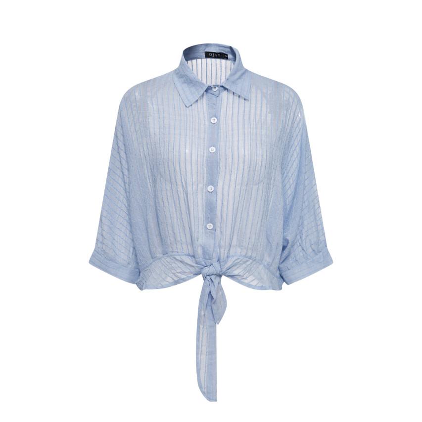 Stripe Crop Shirt