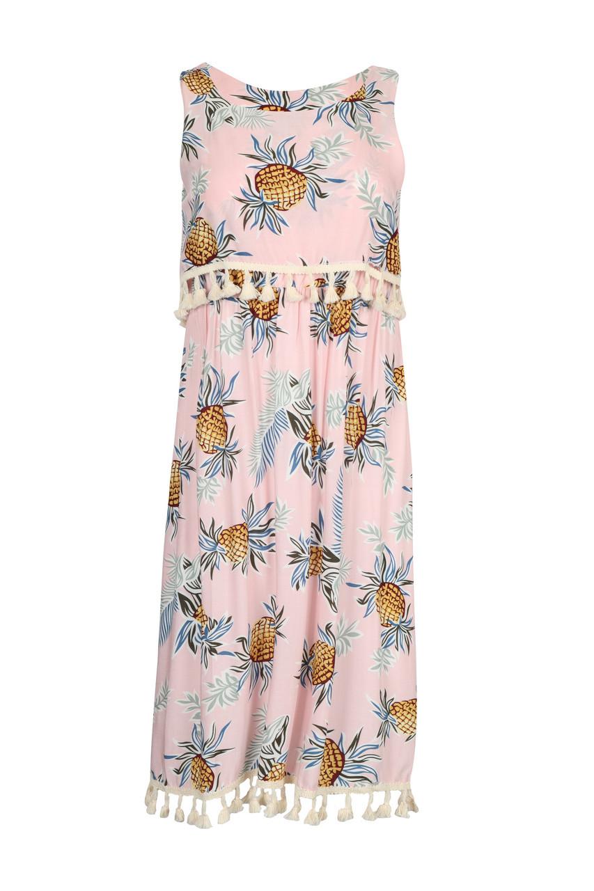 Print Tassel Dress