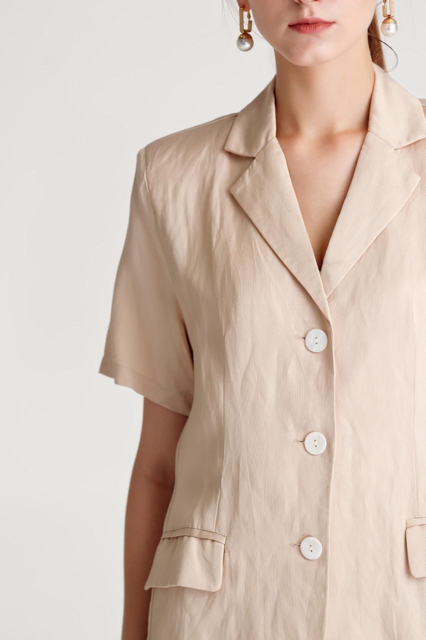 Short Sleeve Tailored Blazer