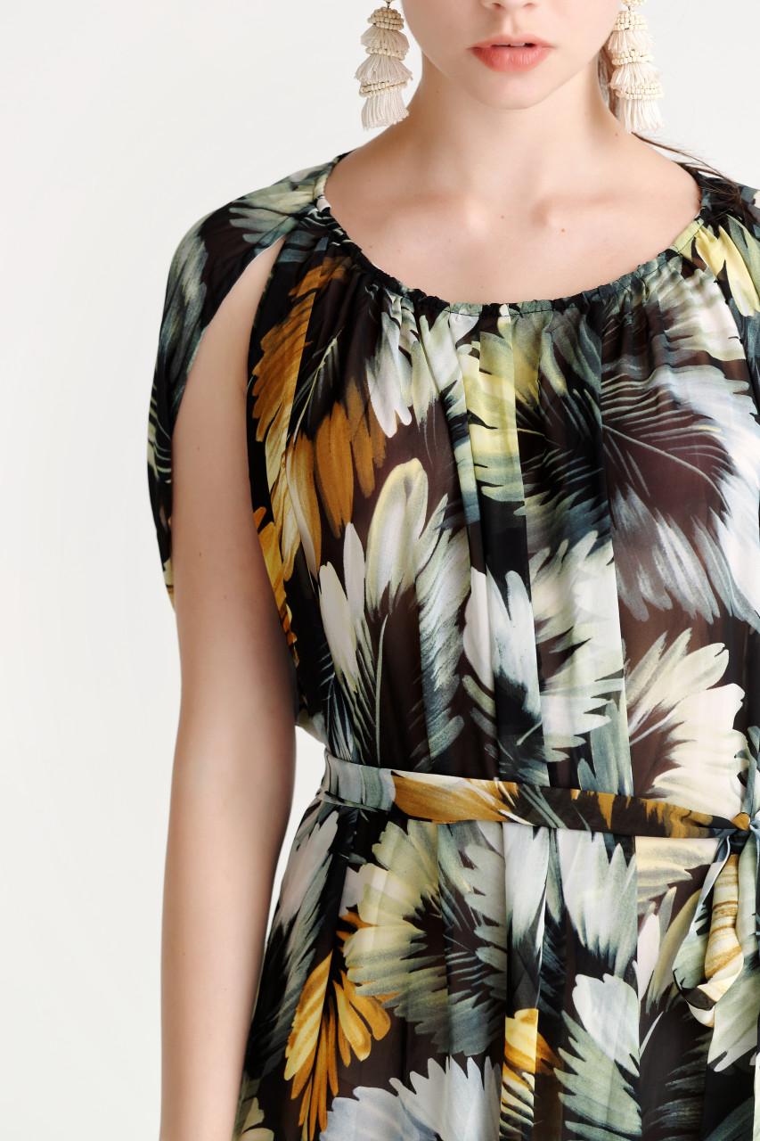 Chiffon Print Dress