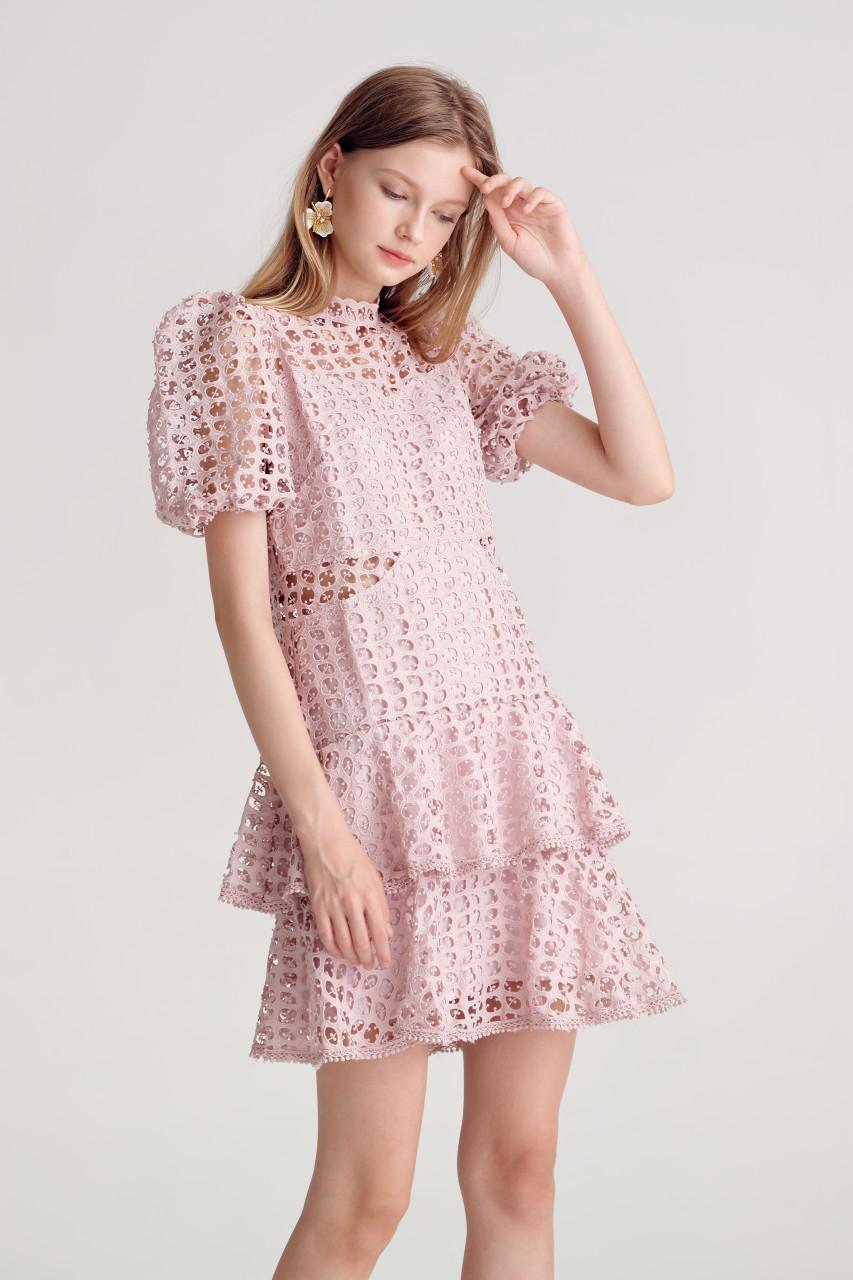 Lace Layered-Hem Dress