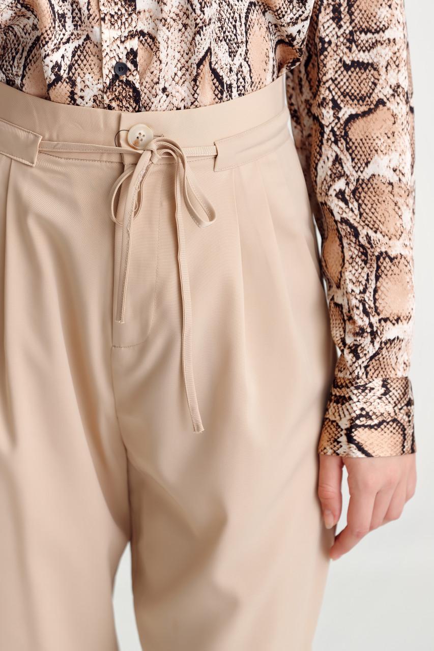 Waist-Strap Wide Leg Pants