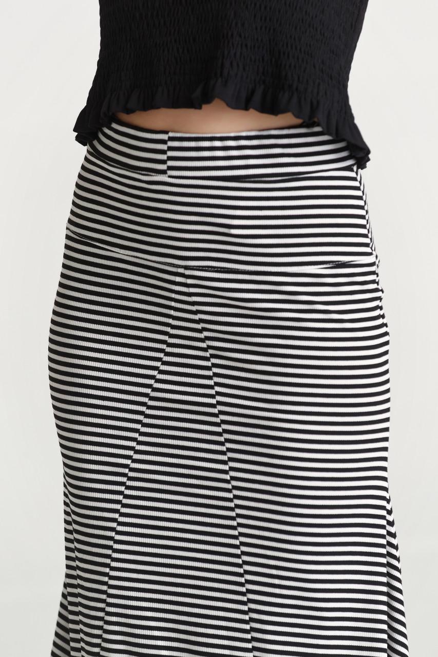 Stripe Maxi Skirt
