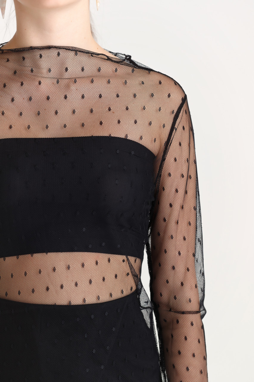 Sheer Lace Fitted Top