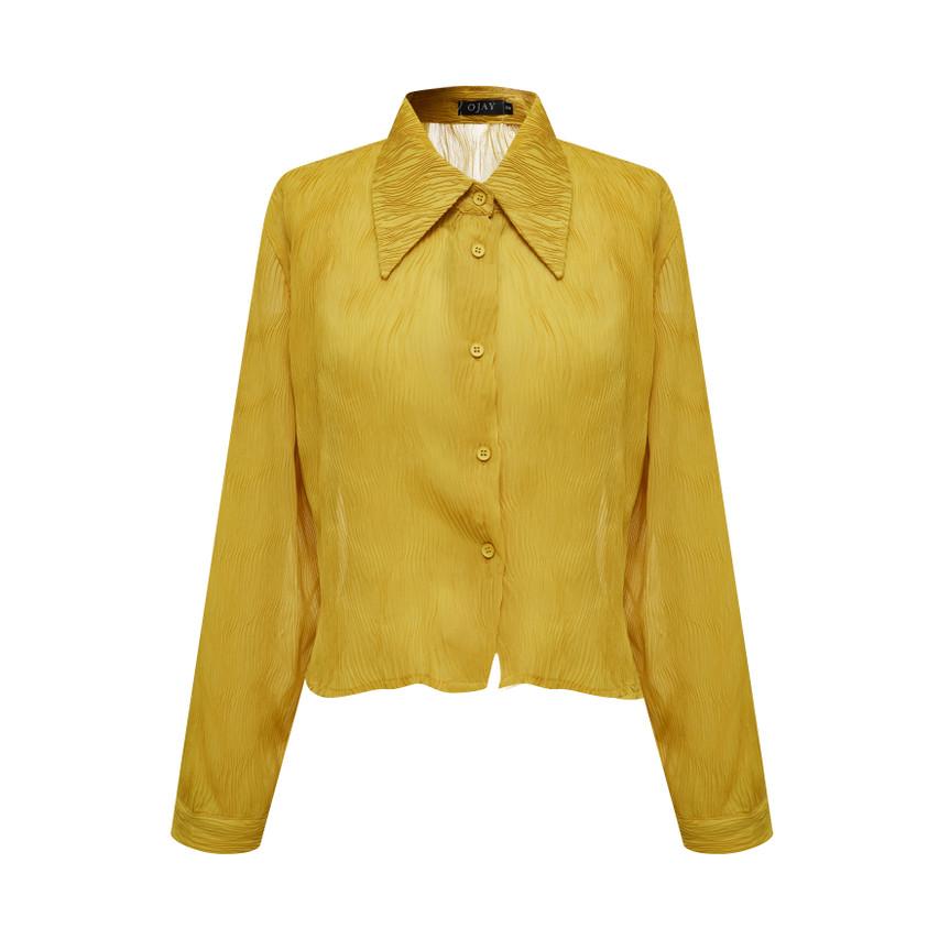 Sheer Jacquard Shirt